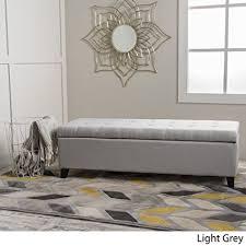 Grey Fabric Storage Ottoman Santa Rosa Light Grey Fabric Storage Ottoman Kitchen