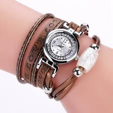 luxury leather bracelet images Duoya dy102 luxury fashion woman watch electronic quartz leather jpg