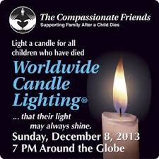 light a candle for someone worldwide candle lighting honors deceased children what to say