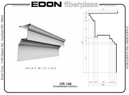 cornice edon fiberglass cornice cr146