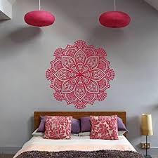 hindu decorations for home ik368 wall decal sticker room decor wall art mural mandala hamsa