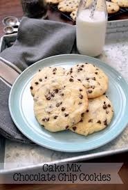 joyously domestic cake mix chocolate chip cookies
