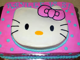 pink u0026 turquoise hello kitty cake cakecentral com