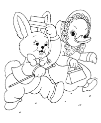 free printable easter ducks coloring sheets bluebonkers 1