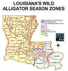 alligators in map alligator seasons and zones louisiana department of