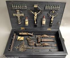 crucifixes for sale vire slaying kit from 1800s complete with wooden stakes