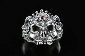 gothic ruby rings images Monster skull gothic ruby oxidized silver ring mr 013 jpg