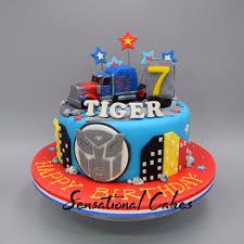 transformer birthday cake optimus prime mover truck theme 3d cake singapore sensational