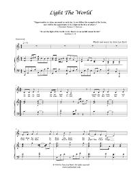 light of the world chords light the world pdf sheet music