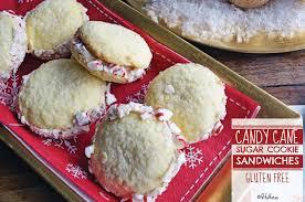 candy cane sugar cookie sandwiches gluten free