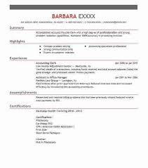 sample resume accounting clerk unforgettable accounting clerk