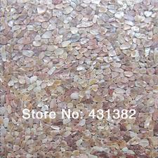 natural mother of pearl shell mosaic tile irregular shape on mesh