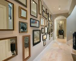 Tall Wall Mirrors by Hallway With Framed Hallway Mirrors And Console Table Also Tall