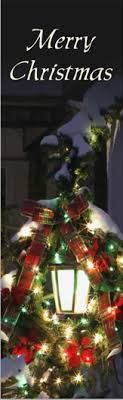 lighted merry banner lights card and decore