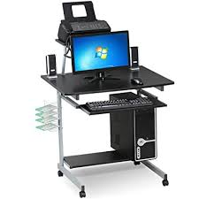 Small Laptop And Printer Desk Go2buy Small Spaces Computer Desk With Keyboard Tray