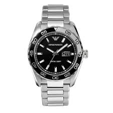 armani watches bracelet images Armani sportivo black dial stainless steel bracelet mens watch ar6047 jpg