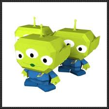 toy story alien free papercraft download freebie printables