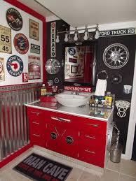 cool for the mancave bathroomman cave bathroom our boys new vintage car auto bathroom