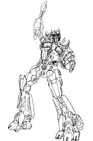 transformers coloring pages optimus prime coloring