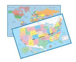 Delaware Map Usa by World U0026 Usa Educational Beginners Level K 4 Wall Map Set