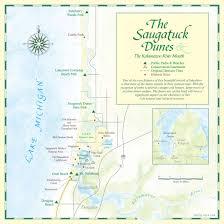 Michigan Lighthouses Map by Saugatuck Dunes Coastal Alliance