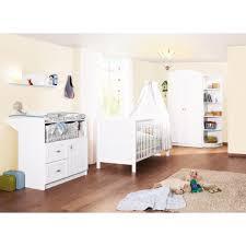 chambres bebe chambre bébé 3 pièces blanc pinolino acheter sur greenweez com