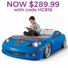 step2 corvette toddler to bed with lights this kid s car bed will the transition from a crib easy and