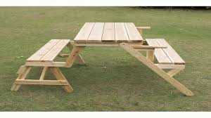 outsunny 2 in 1 convertible picnic table garden bench youtube