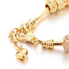bracelet luxury crystal images Szelam luxury crystal heart charm bracelets bangles gold plated jpg