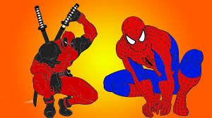 spiderman vs deadpool new coloring pages youtube