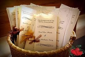 Ideas For Wedding Programs Creative Wedding Program Ideas Weddingsrusdeco