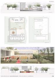 kindergarten floor plan layout gallery of kindergarten housing and community hall complex se