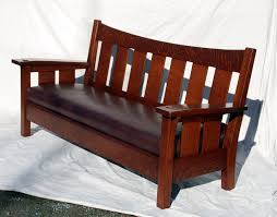 Stickley Mission Sofa by Voorhees Craftsman Mission Oak Furniture Accurate Replica Of The