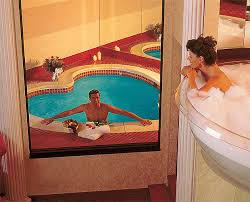 you could spend your honeymoon in a 7 foot chagne glass bath