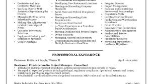 resume project manager resume awesome program manager resume