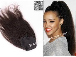 yaki pony hair styles 160g long high big natural brown drawstring ponytail hair