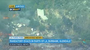 Wildfire La Area by Man Stays Home Fights La Tuna Fire Flames With Water Bottle