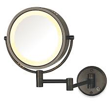 8x lighted vanity mirror jerdon 8x 1x lighted direct wire wall mount mirror bed bath beyond