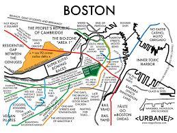 T Map Boston by Boston Neighborhood Culture Map T Shirt U2013 Urbane Map Store