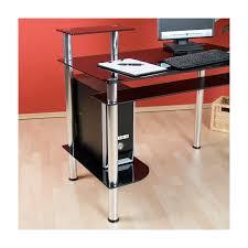 Computer Schreibtisch Ecke Stilista Designer Schwarz Glas Computertisch Schreibtisch Pc Büro