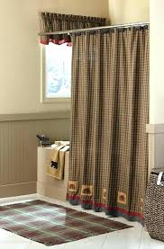 Curtains For A Cabin Lodge Shower Curtain Mountain Moose And 5 Bath Set