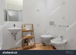 bright bathroom interior with clean clean fresh bright bathroom stock photo 677765578