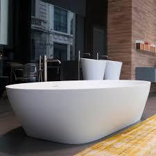 free standing bathtub oval marble plastic solidea
