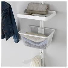 Wicker Laundry Basket With Lid Ikea Algot Wall Upright Shelves Rod Ikea