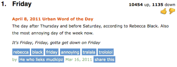 Definition Of Meme Urban Dictionary - urban dictionary definition of the day friday blah blah blah