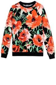 choies white floral long sleeve sweatshirt 17 liked on