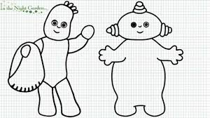 iggle piggle colouring pages funycoloring