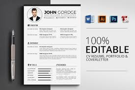 pages resume template 3 pages cv resume templates by designhu design bundles