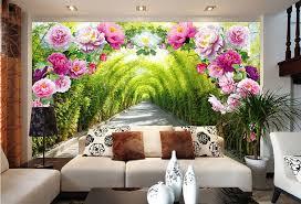 Aliexpresscom  Buy Romantic Rose Flowers Wall Mural Natural - Girls bedroom wall murals