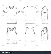 clothing set blank vector templates white stock vector 658935928